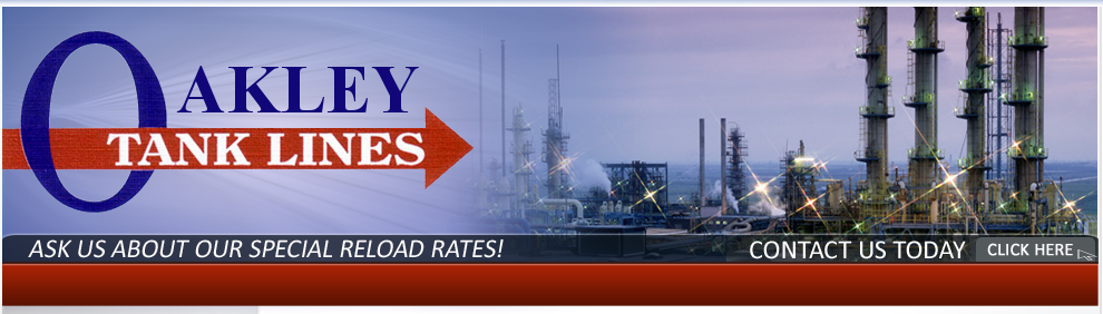 Oakley  Tank Lines - Ask us about our special reload rates!  Contact us today, click here!